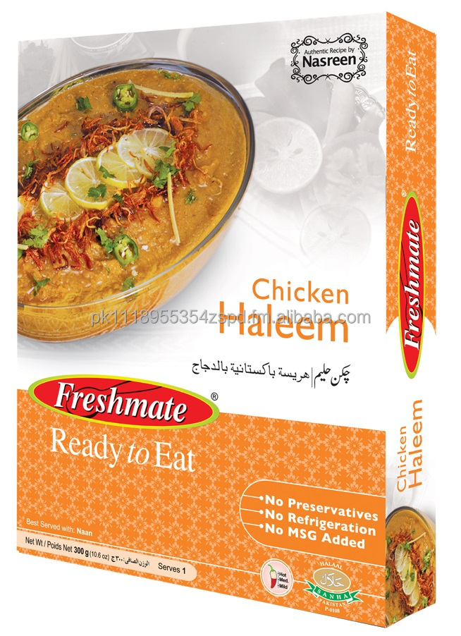 Chicken Haleem - Ready to Eat Halal food - Shelf stable MSG Free Instant Pakistani food - Retort packed MRE - Meal Ready to Eat