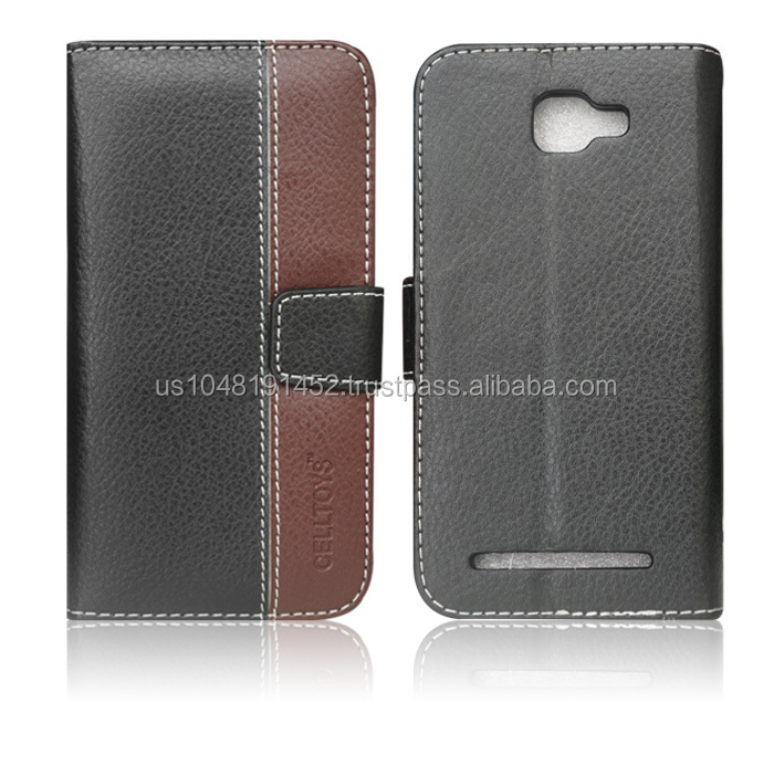Chic Leather Wallet Case For Blu Dash 5.0