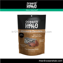 Ocean's HALO Almond & Chocolate Strips (Dried Roasted Crispy Seaweed snack) - 2017 Fancy Food Show Innovation Product