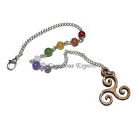Golden Brass Chakra chain with Reiki Symbol