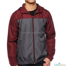 Mens 2015 Plain Cheap Waterproof Rain Winter Jacket/Colorblock Waterproof 100% Polyester Windbreaker Rain Jacket