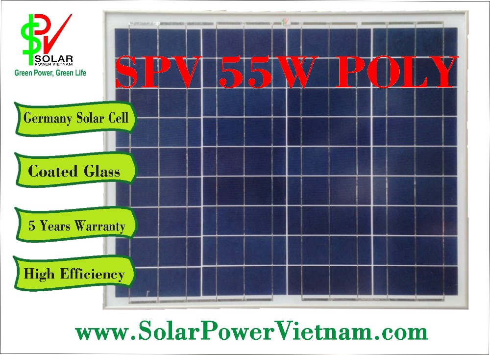 55W Poly solar panel - SPV55P - A product made in Vietnam