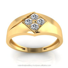 18k Yellow Gold Gents Engagement Ring