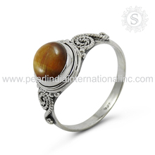 Magnificent Tiger Eye Gemstone Ring Handmade Silver Jewelry Below Wholesale Sterling Silver Jewelry