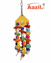 AAZIL Colorful wooden/rope hanging parrot cage toys, toys, climbing, bird cockatoo.