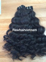 Remy hair full cuticle natural silky black color, human hair extensions in stock to export