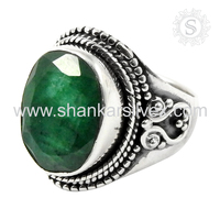 illuminative Emerald Ring For Women 925 Silver Ring Manufacturer 925 Sterling Silver Jewelry
