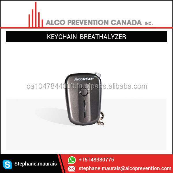 Latest Smartphone Compatible Breathalyzer Keychain with Bluetooth Facilities