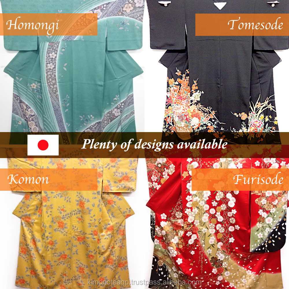 Japanese traditional items silk kimono and accessories. Beautiful!