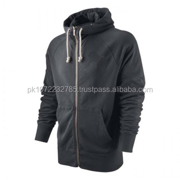 Mens Zipper Hoodie for winter season made of polyester cotton custom logo offer