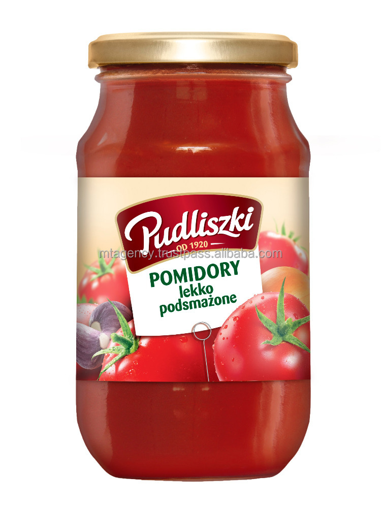 LIGHTLY FRIED TOMATOES, CONCENTRAT, PURRE, PASTE, glass jar 295g NATURAL