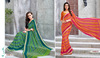 Stunning Sea Green Georgette Saree/fancy saree blouse designs/Saree Wholesaler In India
