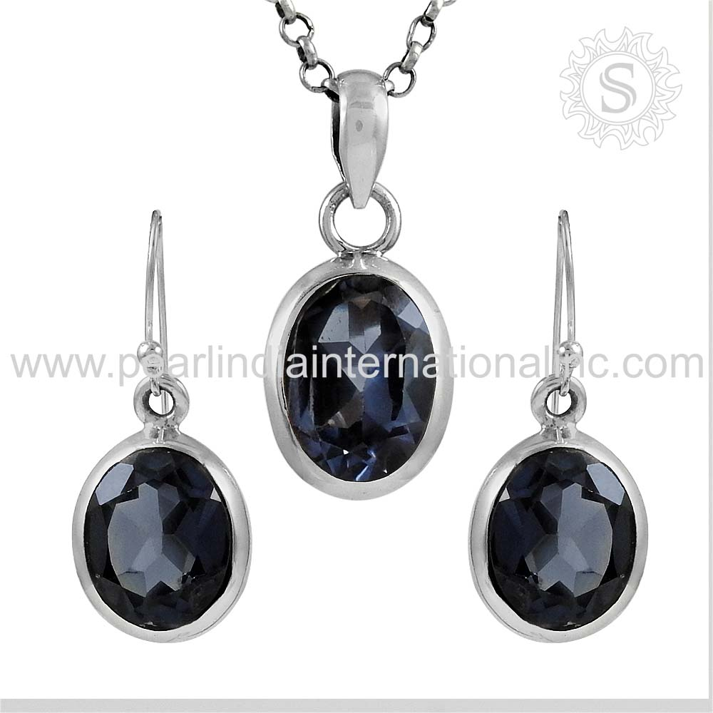 Efficient Natural Alexandrite Set Jewelry 925 Sterling Silver Wholesale Jewelry Set Exporters