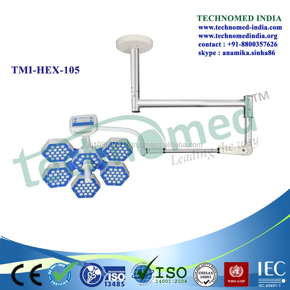 TMI-HEX-105 Medical one domes high ceiling led operation led lights