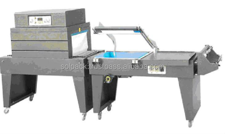 Semi-Automatic sealing & cutting & shrink packing machine
