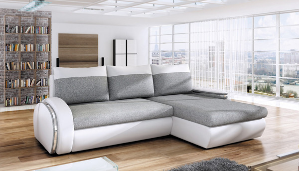 Corner sofa bed with storage Ego