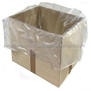 disposable clear plastic carton liner