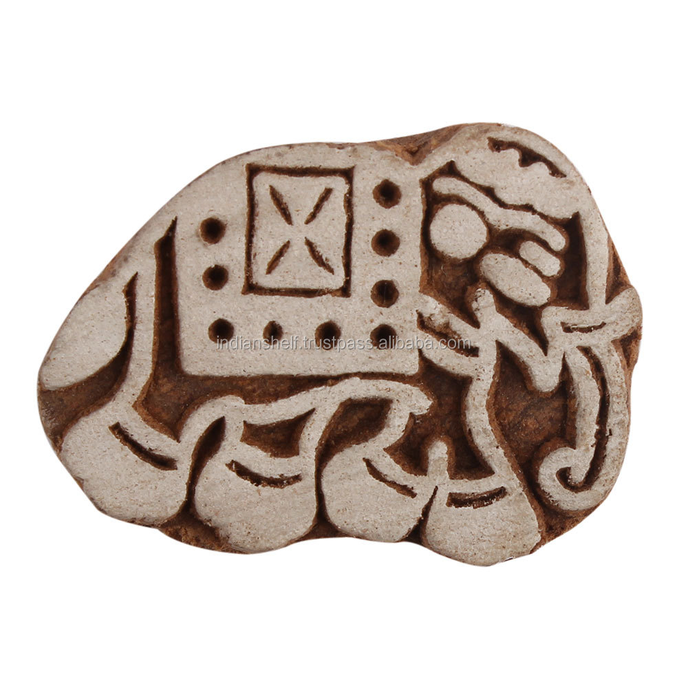 Elephant Shape Handmade Wooden Printing Blocks for Craft Wholesaler Only On Indianshelf WB-2544