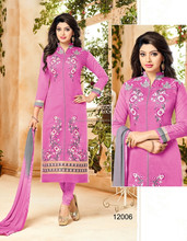 Hand Embroidered Pure Cotton Semi Stitched Suits