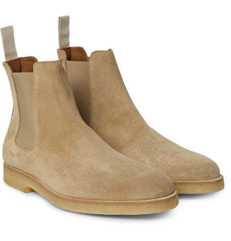 Chelsea Boots /Handmade mens Beige color Chelsea suede leather boots Men suede leather boot common projects designs Pull tabs