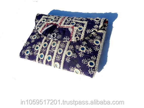 indian homemade old type vintage banjara clutch bags for women.