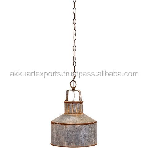 1947 INDIA VILLAGE INDUSTRIAL PENDANT LAMPS , OLD DISTRESSED PENDANT LAMPS & LIGHTS