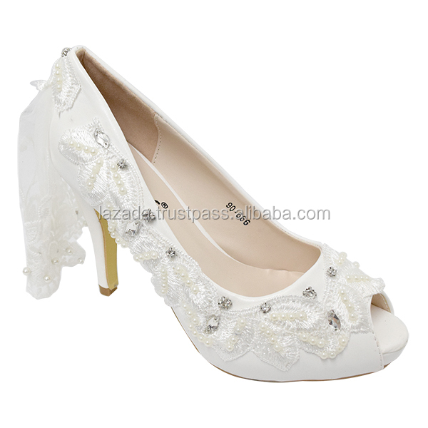 GORGEOUS BRIDAL HIGH HEELS ONLINE SALE (90-666 W) WHITE