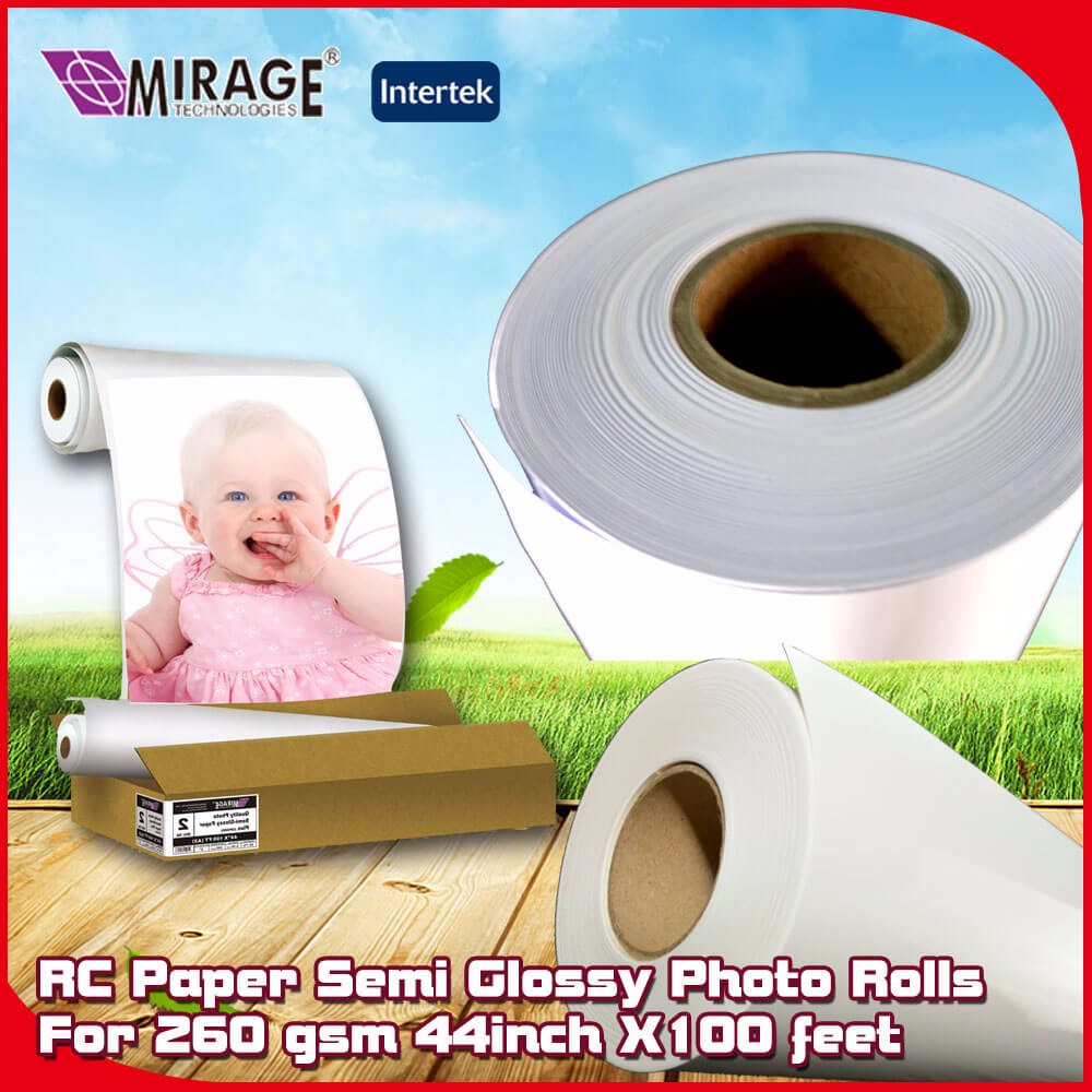 Semi Glossy 44inch X100 feet RC Photo A4 Size Paper Roll