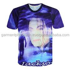 O-Neck Collar and T-Shirts Product Type Michael Jackson sublimation t shirt