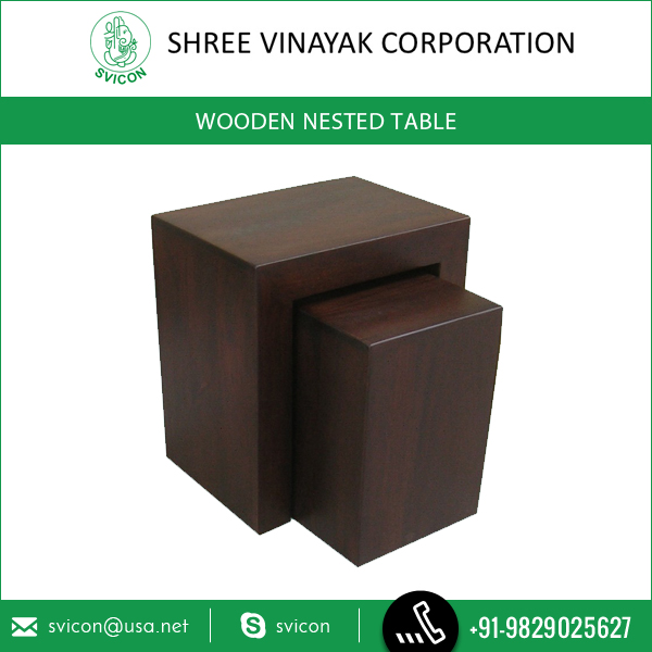 Best Selling Wooden Nested Table Can Complement Any Type Of Interior
