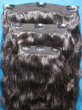 CLIP ON HAIR EXTENSION INDIAN VIRGIN REMY SINGLE DRAWN