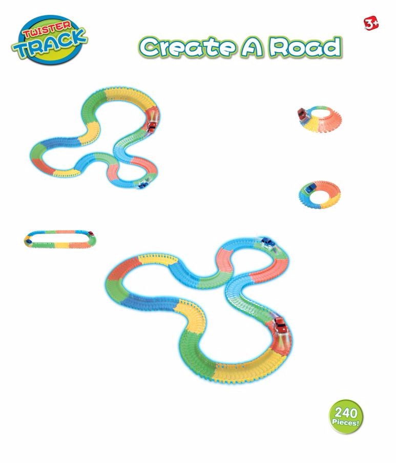 12' Glow in Dark Neo Turbo Twister track