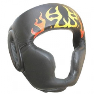 Great protection High quality enclosed boxing head guard muay thai head guard (micro fiber/leather handmade)