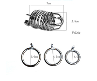 BDSM Cock Cage Sex Toys Chastity Lock Device Stainless Steel Penis Lock Male Bird Lock Adult Sex Machine