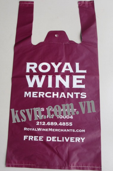 Royal Wine printed t-shirt bags shopping bags plastic bag