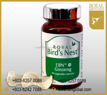 Edible Bird Nest with Ginseng Nutrition Supplement Capsules in bottle from Malaysia