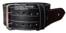 "Leather Power Weight Lifting Belt- 4"" with Customized Logo gym belts"