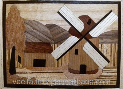 Art wood marquetry Vdelta