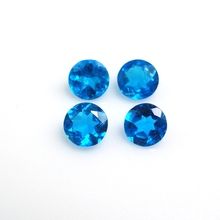 Top quality loose round brilliant cut natural neon apatite gemstone