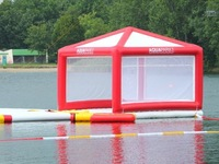 Giant inflatable floating water tent island $ 2.500-2.750 fob