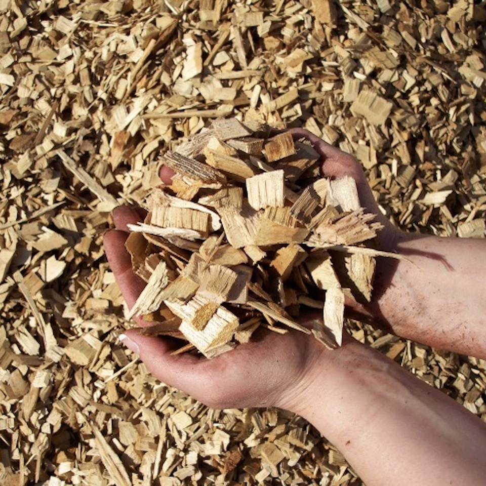 Hardwood (Oak, Mesquite, and Huisache and Hackberry) wood chips