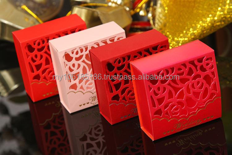 Traditional Oriental Laser-cut Lattice Window Pavilion Box