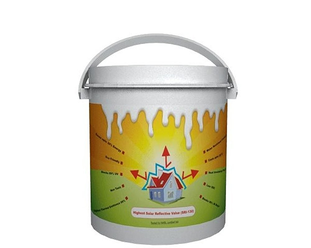 StarShield - (4 Ltrs) Best Eco Friendly Solar Reflective & Insulating High Albedo Heat Resistant Cool Paint Coating for roof