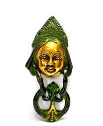 Door Know Wall Hanging Devi Face Wall Decor Brass Handmade Sculpture india Home Decor Gifts