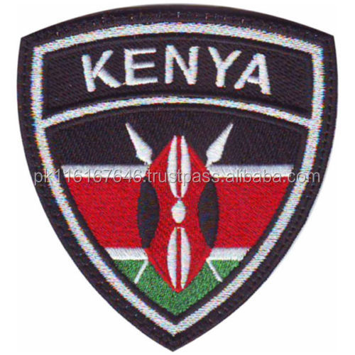 MACHINEREY KENYA CREST FLAG EMBROIDERY PATCH