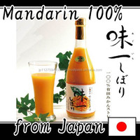 Popular mandarin orange juice brands with not Additive made in Japan