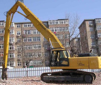 Ultra Long Reach Residential Aging Blocks Demolition Excavator Rotating Grapple