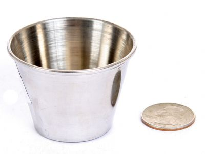 Stainless Steel 2.5 Oz Round Sauce Cup