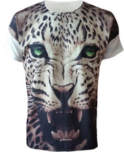 New fashion custom 3D printed t-shirt with animal