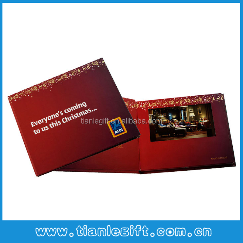 HD Screen Video Brochure With Touch Screen